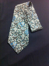 Vintage Paisley Pattern Necktie/Mens Accessories/Classic Tie/Polyester/58 in