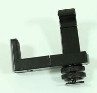 """New BRACKET & 1/4""""-20 Hot Shoe Adaptor for Tripod iPhone 4 4S 4G 4th 3G 3GS"""