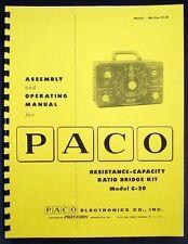 Paco C-20 C-20 Resistance Capacitance Ratio bridge Kit Manual