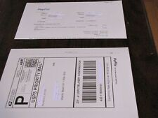 500 Shipping Labels with Tear off receipt - Designed for Ebay & Paypal printing