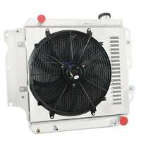 12V Fan Shroud Replacement for Jeep Cherokee//Comanche I4//l6 3-Row Aluminum Radiator