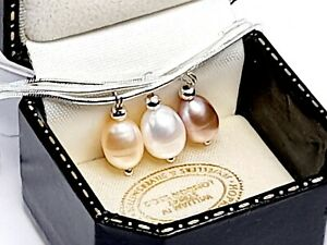 UK Genuine Sterling Silver Freshwater Pearl Necklace Gift Boxed
