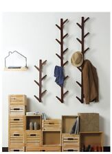 Bamboo wooden hanging coat hat rack wall hook clothes hanger living room bedroom
