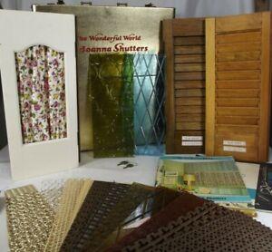 RARE SALESMAN'S SAMPLE Joanna Shutters 1960's case RETRO MCM catalog decor