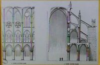 Notre Dame Section and Elevation Views, Paris, France, Magic Lantern Glass Slide