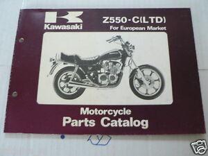 KAWASAKI Z550-C(LTD) EUROPEAN MARKET PARTS CATALOG ORIGINAL FACTORY BOOK 1980