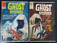 """Lot Of 2 Vintage Dell Comic Books Ghost Stories 1970 """"Statue That Came To Life"""""""