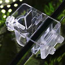 Clear Acrylic Aquarium Fish Tank Water Pipe Hose Clip Tube Clamp Holder 2mm