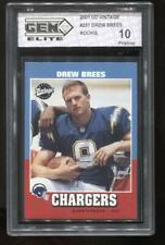 2001 Drew Brees UD Vintage RC Rookie Gem Elite 10 Pristine New Orleans Saints