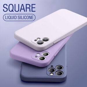 Hülle Für For iPhone 11 Pro Max XS XR 8 7+ Handy Schutz Case Soft Liquid Silikon