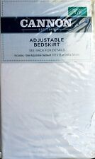 Cannon Adjustable Bed Skirt Twin / Full - *New*- Never Opened-Color: White