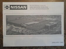 NISSAN orig 1985 Sales and Service Dealers in The UK Brochure