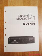 Luxman K-110  Service Manual