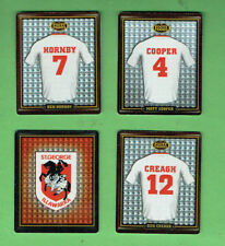 2009  ST. GEORGE  RUGBY LEAGUE FOOTY FRAME TAZOS