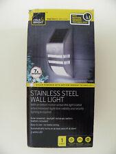Gardman Motion Sensor Stainless Steel Wall Solar LED Light. No wiring.