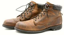 Work n Sport Mens Hunting Boots Size 12 Leather Hiking Safety Toe Made in USA