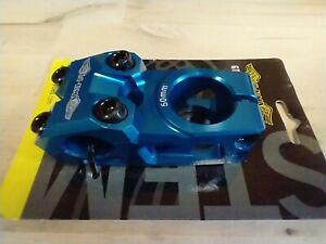 "GT RACING BMX RACE 1 1/8"" THREADLESS BLUE BIKE BICYCLE STEM 50mm"