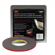 """3M™ 6386 Automotive Acrylic Plus Attachment Tape 06386 Black 1/4""""x20 Yds--45 mil"""