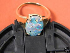 10KT YELLOW GOLD 4 CT.  BLACK OPAL RING SIZE 7   3.5 grams 10 KT NEW