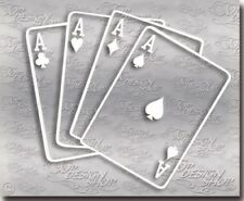 Player Karten Asse Aufkleber - Pokerkarten Autosticker für Poker und Tuning Fans