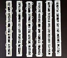 6 Pcs Alphabet Letters Numbers Tappits Frill Edge Fondant Gum Paste Cutters