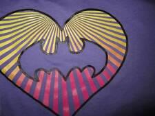 Ladies Pajamas LOVE Batman BATGIRL Large Purple Lounge Capris Pants