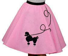 "Pink FELT Poodle Skirt Girl Size MEDIUM (Age 7-9) _ Waist 20""- 25"" _ Length 20"""