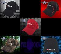New Terex Construction Cranes Camo Black Mens Snapback Cap Hat