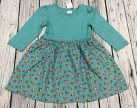 Baby Gap Girls 4 / 4T Lightweight Teal Blue Floral Dress. Nwt