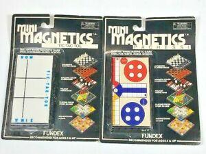 Vintage games Mini Magnetics Pachessi Game- Tic Tac Toe -  New