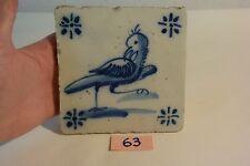 C63 Très ancien carrelage DELFT XIX ème siècle old tiles 2