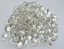 CHANDELIER LIGHT CRYSTALS CUT GLASS BEADS DROPS CHRISTMAS TREE DROPLETS PARTS BN