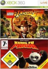 Lego Indiana Jones et Kung Fu Panda (Xbox 360 Game) * bon état *