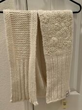 NEW Abercrombie & Fitch AF CHUNKY CABLE KNIT SCARF Women Wool Rabbit Hair Blend