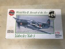 1989 AIRFIX WW II AIRCRAFT OF THE ACES YAKOVLEV YAK-3 1/72 - NEW IN OPEN BOX!