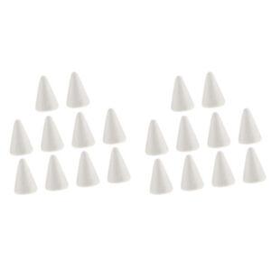 Kisangel 2pcs Christmas Styrofoam Ornament White Blank Wing Modelling Polystyrene Foam Shape Tree Hanging Pendant Craft Project Toy for DIY Flower Arranging Gift Wedding Decor