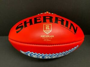 AFL PORT ADELAIDE POWER 150 YEARS SHERRIN OFFICIAL LEATHER FOOTBALL Boak Wines
