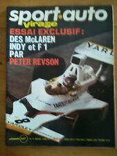 sport auto n°147 1974 MC LAREN F1 / INDY - MATRA - 2 POSTERS LOTUS MC LAREN M22