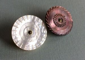 2 Medium Colonial Pearls, One Smoky