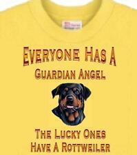 Dog T Shirt  - Everyone Has a Guardian Angel Rottweiler --- Short Sleeve
