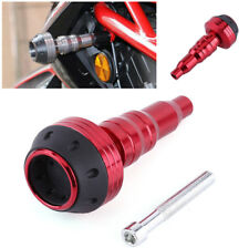 Red Motorcycle CNC Aluminum Alloy Exhaust Frame Slider Falling Engine Protector