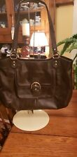 Coach Brown Leather Over Shoulder Handbag