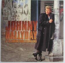 """JOHNNY HALLYDAY - CD SINGLE PROMO """"J'LA CROISE TOUS LES MATINS"""" - 1 TITRE"""