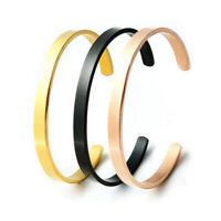 Simple Design Open Bangle Stainless Steel Titanium Men Bracelet Jewelry G vv