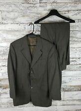 JACK VICTOR Montreal Mens Suit Size 41L Brown Pinstripe Suit Pants W30X31