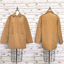 MAXMARA Weekend Quilted Women's Coat Jacket HONEY Gold Made ITALY Size 6