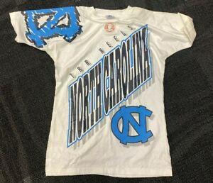 Apex One T Shirt Tar Heels UNC North Carolina Vtg USA Made FLAWS Mens MED F/B