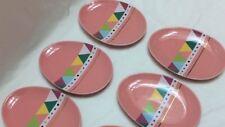 5/Lot Ceramic Easter Egg Shaped Mini Appetizer Plates Pink/Multi-Color/Gold NWT
