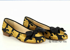 J Crew Crewcuts Girls Elephant Parade Ballet Flats Shoes Slip On Dress K9 B5853