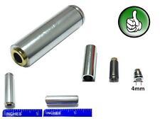 2x 3.5mm 4 Pole Female Repair headphone earphon Jack Plug Audio Soldering silver